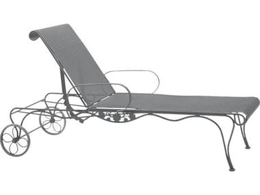 Woodard Briarwood Wrought Iron Adjustable Chaise Lounge WR400070