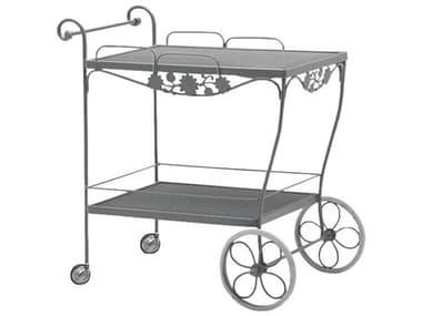 Woodard Briarwood Wrought Iron Mesh Top Serving Cart WR400080