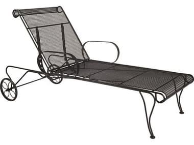 Woodard Universal Wrought Iron Adjustable Chaise Lounge WR460070