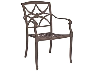 Woodard Wiltshire Cast Aluminum Stackable Dining Arm Chair WR4Q0417