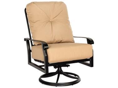 Woodard Cortland Cushion Aluminum Big Man's Swivel Rocker Lounge Chair WR4Z0677