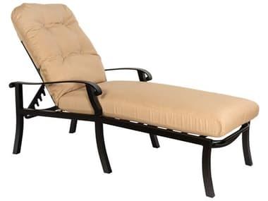 Woodard Cortland Cushion Aluminum Adjustable Chaise Lounge WR4ZM470