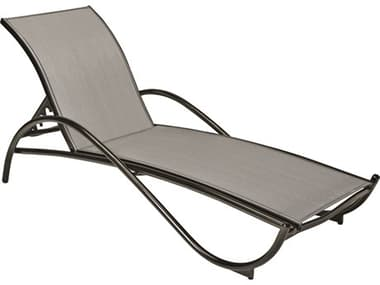 Woodard Tribeca Sling Aluminum Stackable Adjustable Chaise Lounge WR5D0470