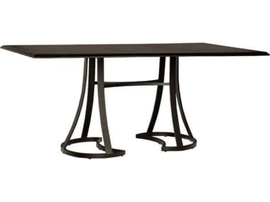Woodard Solid Cast Tables 84'' Wide Aluminum Rectangular Counter Table WR5Y560009284