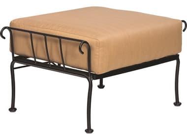 Woodard Terrace Cushion Wrought Iron Ottoman WR790086