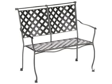 Woodard Maddox Wrought Iron Stackable Bench WR7F0004