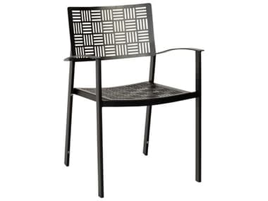 Woodard New Century Wrought Iron Stackable Dining Arm Chair WR930017