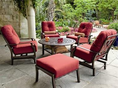 Woodard Cortland Cushion Aluminum Lounge Set WRCRTLS