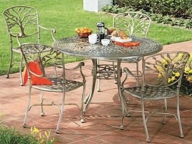 Woodard Heritage Cast Aluminum Dining Set WRHERDINSET