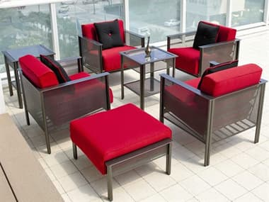 Woodard Jax Wrought Iron Lounge Set WRJAXWI