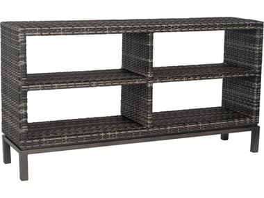 Woodard Canaveral Wicker Charcoal Gray Storage Unit WRS504311