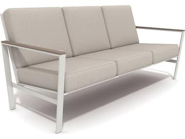 Winston Quick Ship Echo Deep Seating Aluminum Resin Wood Sofa WSHQ145203