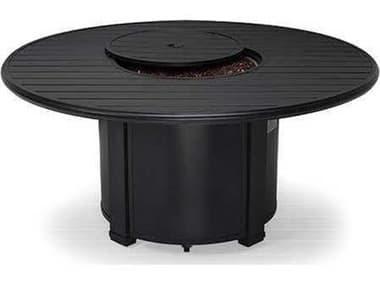 Winston Quick Ship Aluminum 54 Round Slat Fire Pit Table WSHQFP054