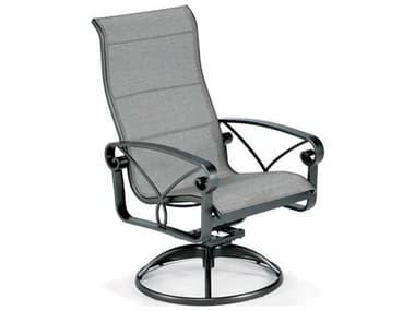 Winston Palazzo Sling Cast Aluminum Arm Ultimate High Back Swivel Tilt Dining Chair WSM4359