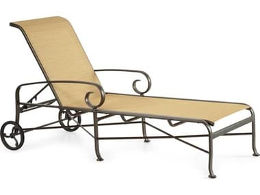 Winston Veneto Sling Cast Aluminum Arm Chaise Lounge WSM55009