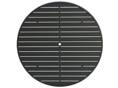 Winston Alternative Slat Extruded Aluminum 54 Round Top with Umbrella Hole WSMESL054