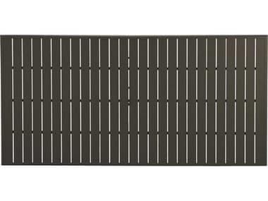 Winston Alternative Slat Extruded Aluminum 73 x 42 Rectangular Top with Umbrella Hole WSMESL073