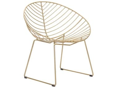 Zuo Outdoor Hyde Gold Steel Lounge Chair Set of Two ZD101029