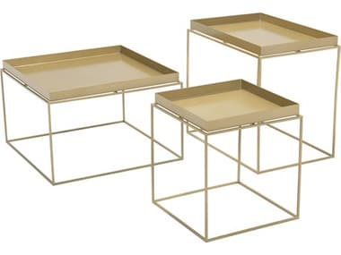 Zuo Outdoor Gaia Gold Steel Nesting Tables ZD101166