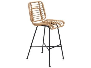 Zuo Outdoor Murcia Steel Wicker Natural Bar Chair ZD703951