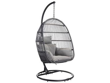 Zuo Outdoor Bilbao Steel Gray Hanging Chair ZD703954