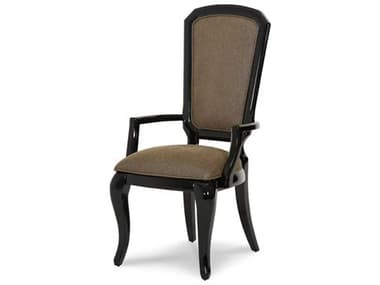 Aico Furniture Michael Amini After Eight Black Onyx Dining Arm Chair (Set of 2) AIC1900488