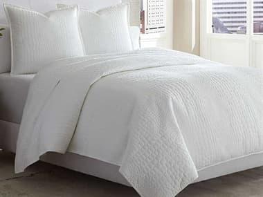 AICO Furniture Ashworth White Three-Piece King Coverlet/Duvet Set AICBCSKD03ASHRTHWHT