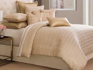 AICO Furniture Aurora Gold Nine-Piece Queen Comforter Set AICBCSQS09ARORAGLD