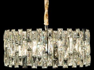 AICO Furniture Baguette Clear / Chrome 8-light 23'' Wide Crystal Pendant AICLTCH9688CLR