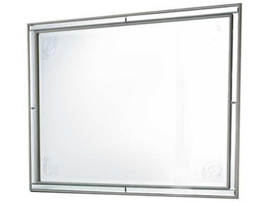 Aico Furniture Michael Amini Bel Air Park Champagne 49''W x 37''H Rectangular Wall Mirror AIC9002260201