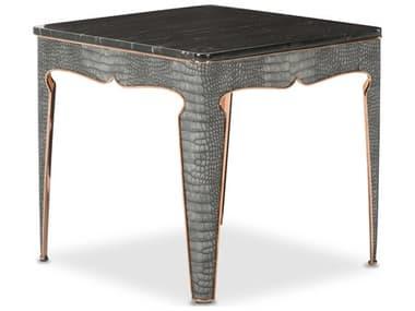 Aico Furniture Michael Amini Carson Marble / Rose Gold 23'' Wide Square End Table AICFSCARSN202801