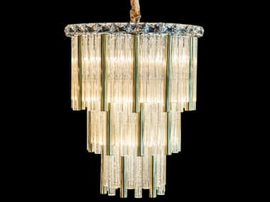 AICO Furniture Chimes Gold 10-light 18'' Wide Crystal Mini Chandelier AICLTCH958G10GLD