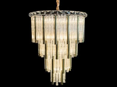 AICO Furniture Chimes Gold 15-light 23'' Wide Crystal Mini Chandelier AICLTCH959G15GLD