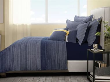 AICO Furniture Crestwood Denim Seven-Piece Queen Duvet Set AICBCSQD07CRSWDDNM