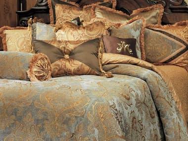 AICO Furniture Elizabeth Aqua 12-Piece Queen Comforter Set AICBCSQS12ELZBTHAQA