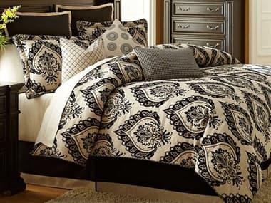 AICO Furniture Equinox Sand Nine-Piece Queen Comforter Set AICBCSQS09EQNOXSAN