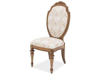 Aico Furniture Michael Amini Excursions Warm Carmel Cashmere Dining Side Chair AIC9081003109