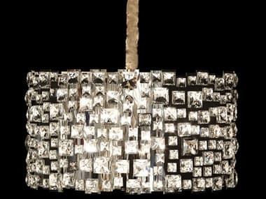 AICO Furniture Facets Clear 12-light 27'' Wide Crystal Pendant AICLTCH96612CLR