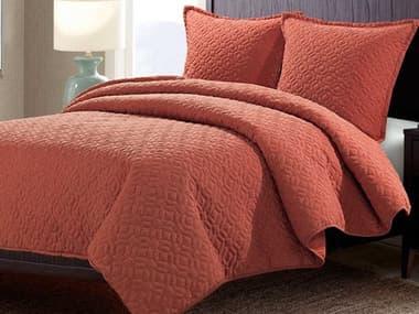 AICO Furniture Fairview Paprika Three-Piece Queen Duvet Set AICBCSQD03FARVWPAP