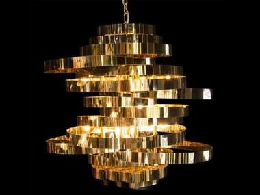 AICO Furniture Hemisphere Gold 8-light 27'' Wide Medium Chandelier AICLTCH7028GLD