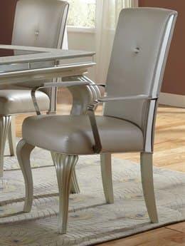 Aico Furniture Michael Amini Hollywood Loft Frost Dining Arm Chair AIC900160408