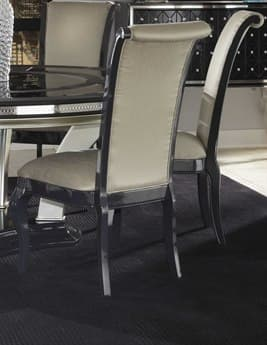 Aico Furniture Michael Amini Hollywood Swank Graphite Dining Side Chair AICNT0300379