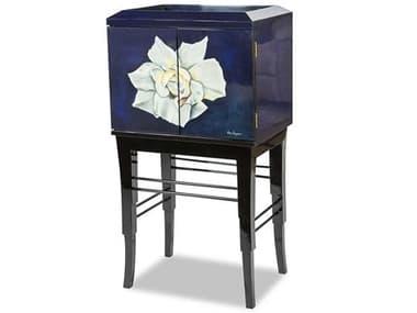 AICO Furniture Illusions Black / Blue / White Accent Cabinet AICFSILUSN018