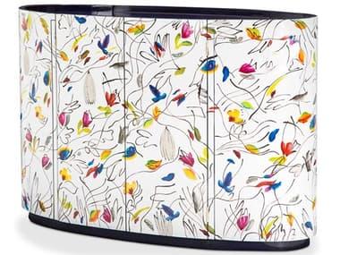 AICO Furniture Illusions White / Multi Accent Cabinet AICFSILUSN073D