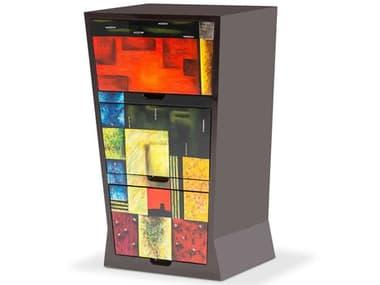 AICO Furniture Illusions Black / Multi Accent Chest AICFSILUSN083A