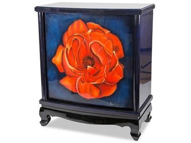 AICO Furniture Illusions Black / Blue / Red Bar Cabinet AICFSILUSN009