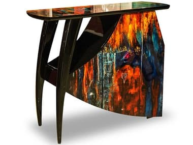 AICO Furniture Illusions Black / Blue / Red / Gold Mini Bar AICFSILUSN025
