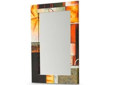 AICO Furniture Illusions Black / Red / Gold / Tan 30''W x 42''H Rectangular Wall Mirror AICFSILUSN315