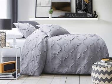AICO Furniture Janelle Dove Three-Piece Queen Duvet Set AICBCSQD03JANELDOV