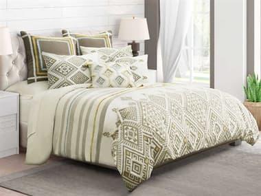 AICO Furniture Jinx Dove Seven-Piece Queen Duvet Set AICBCSQD07JINXDOV